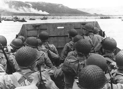 D-Day, approaching Omaha Beach, 6 June 1944
