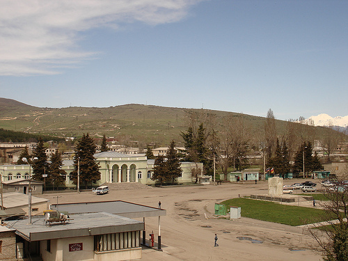 Tskhinvali, town centre