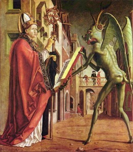 St Augustine and the Devil, by Michael Pacher