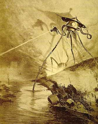 original war of the worlds alien. unlikely that aliens are