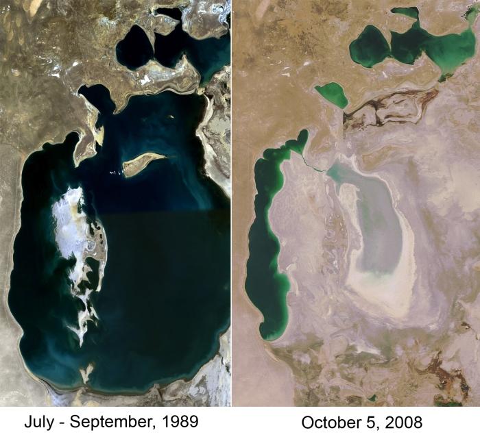 Aral Sea 1989-2008